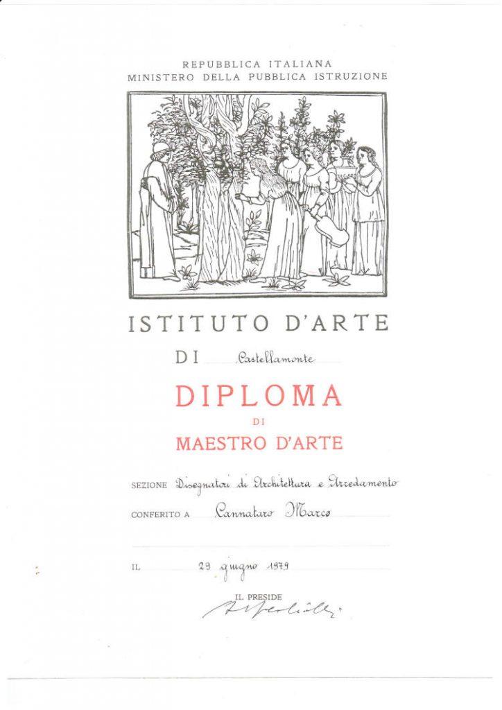 Diploma maestro d'arte